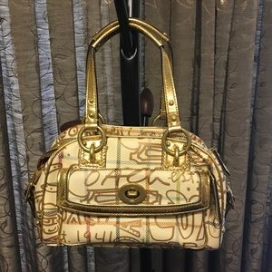 Authentic Coach Tattersall Graffiti Purse